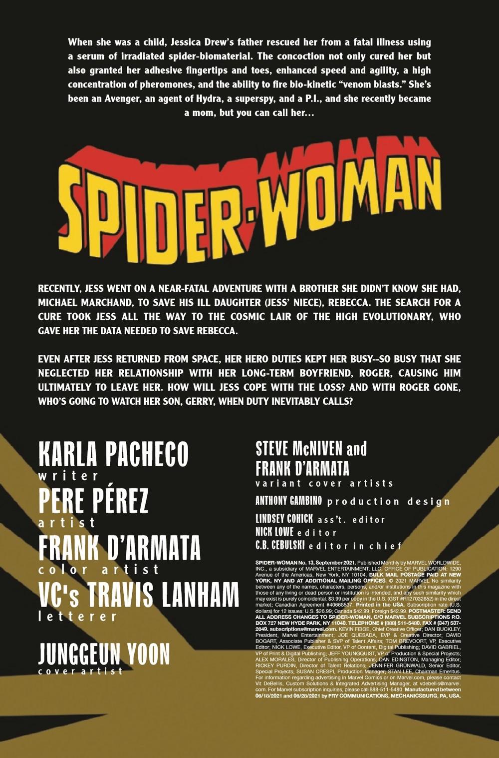 SWOMAN2020013_Preview-2 ComicList Previews: SPIDER-WOMAN #13