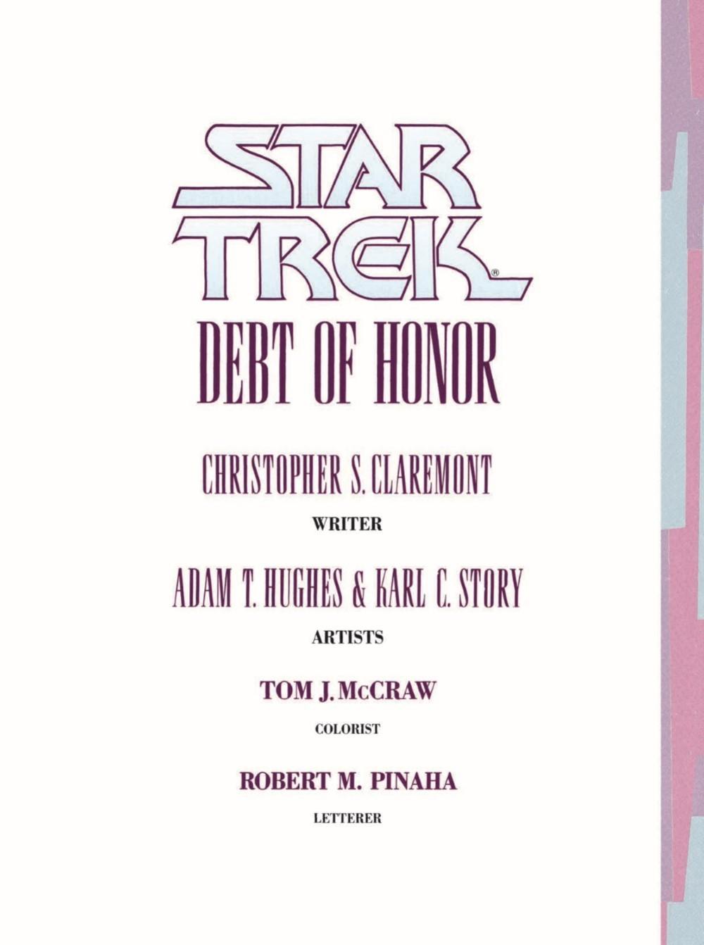 StarTrek_DebtofHonor-pr-3-1 ComicList Previews: STAR TREK DEBT OF HONOR CLASSIC EDITION GN
