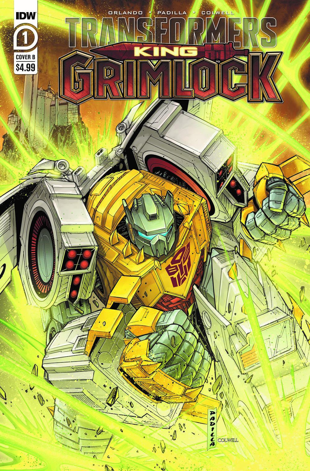 TFGrimlock-01-Cover-B ComicList Previews: TRANSFORMERS KING GRIMLOCK #1 (OF 5)