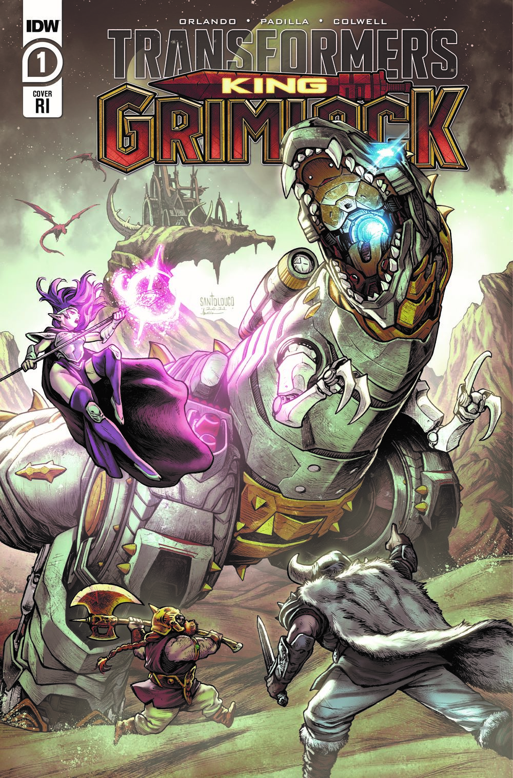 TFGrimlock-01-Cover-RI ComicList Previews: TRANSFORMERS KING GRIMLOCK #1 (OF 5)