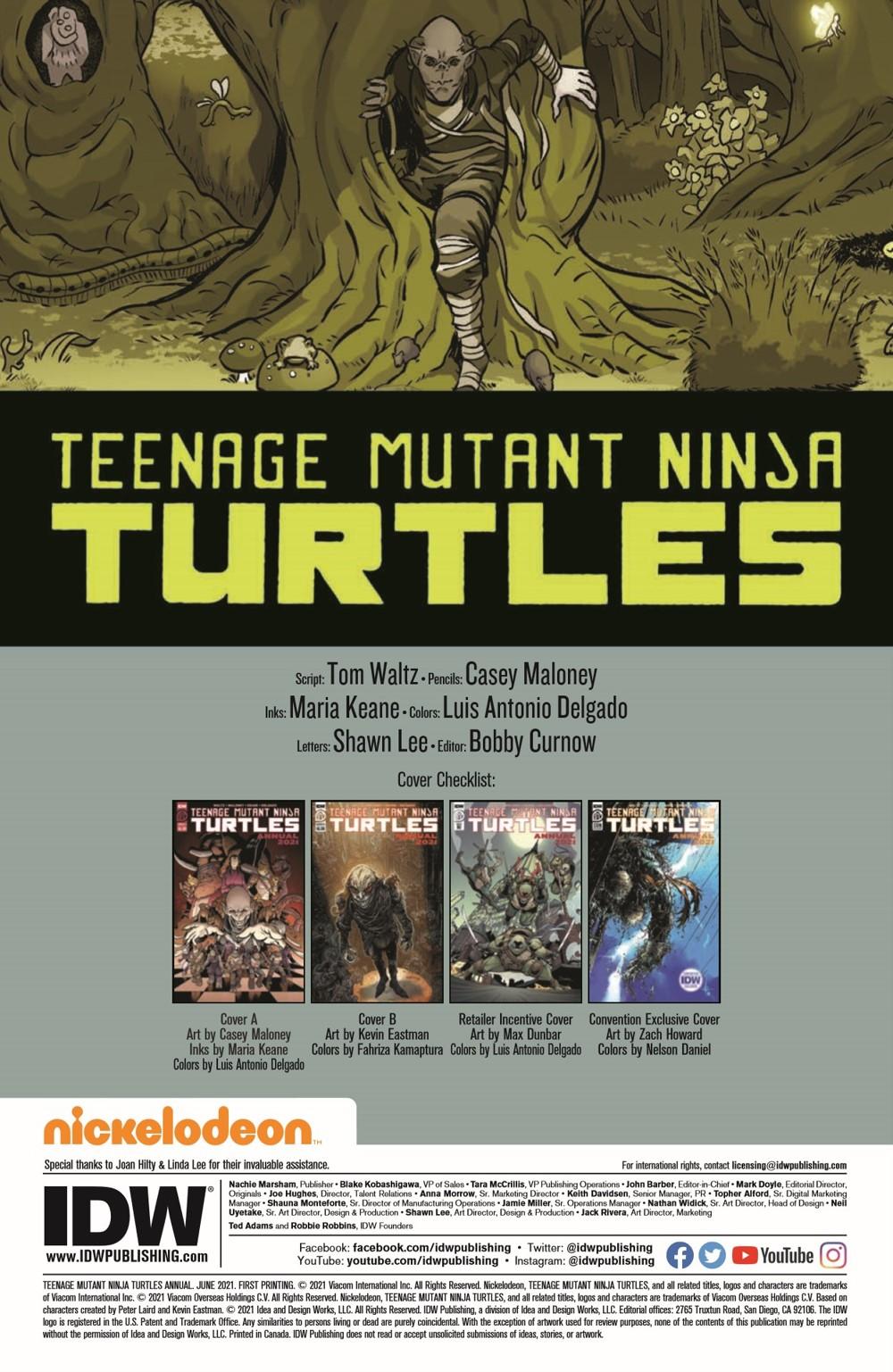 TMNT-Annual2021_pr-2 ComicList Previews: TEENAGE MUTANT NINJA TURTLES ANNUAL 2021