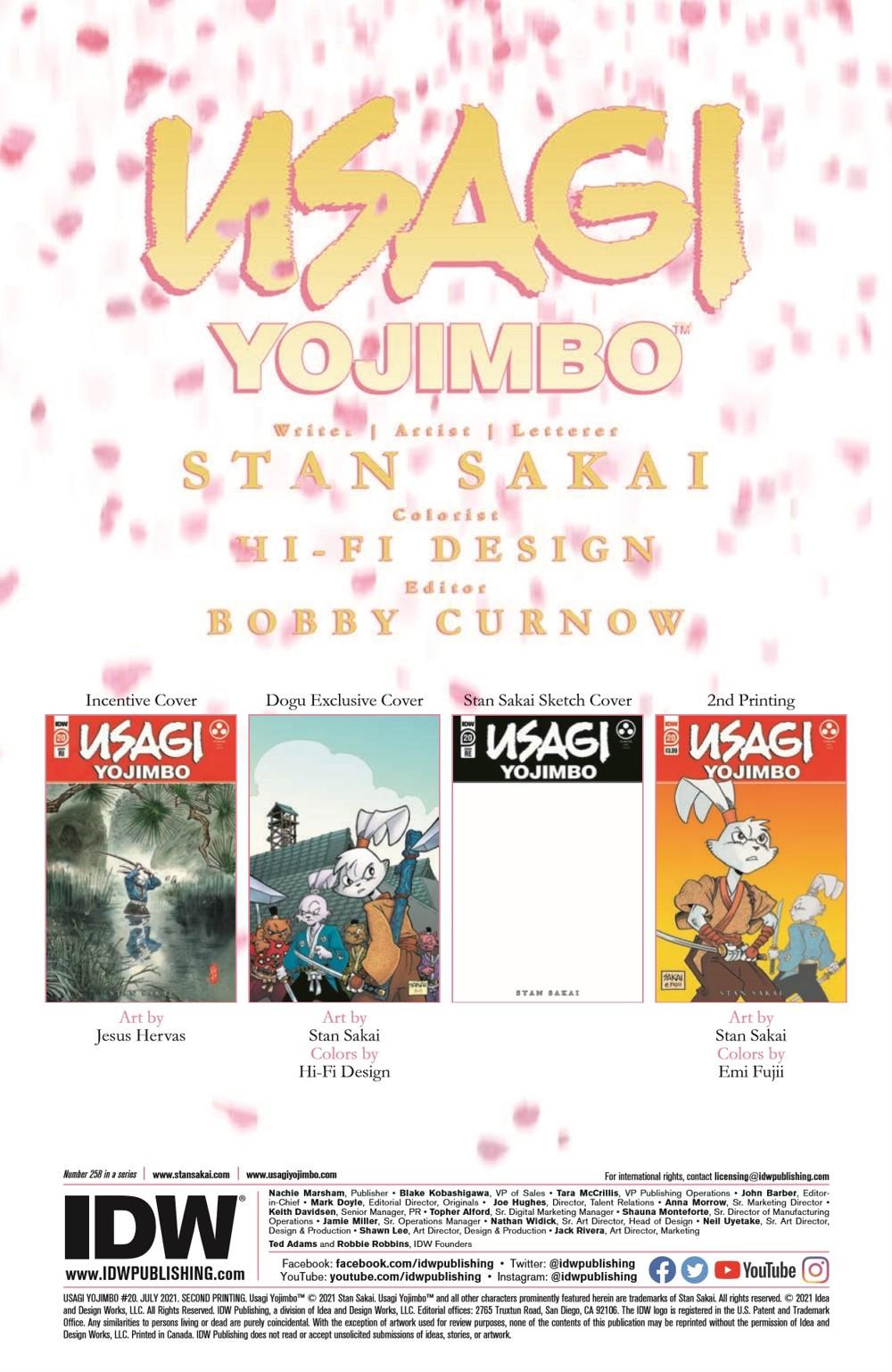 Usagi20_2nd_pr-2 ComicList Previews: USAGI YOJIMBO #20 (2ND PRINTING)