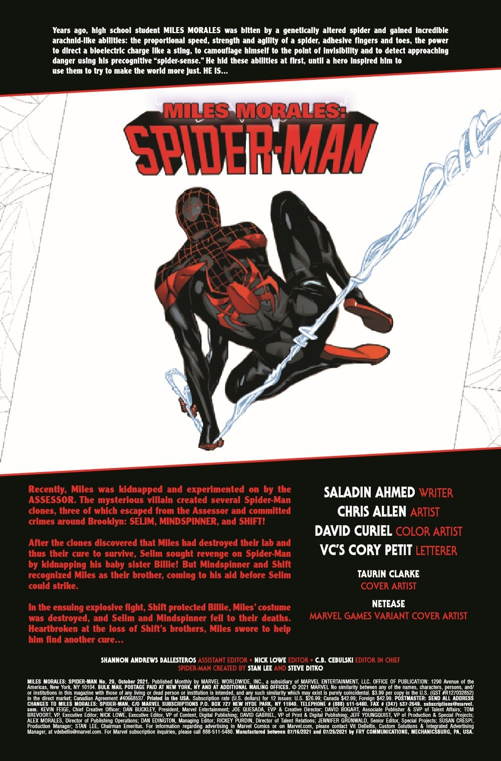 MMSM2018029_Preview-2 ComicList Previews: MILES MORALES SPIDER-MAN #29