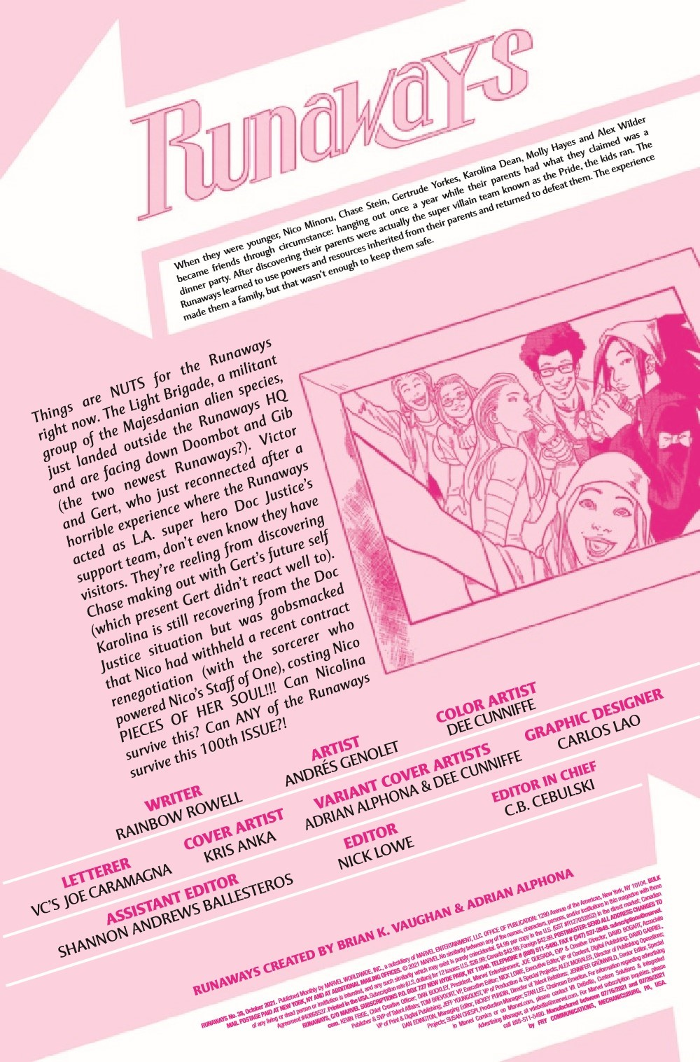 RUNAWY2017038_Preview-2 ComicList Previews: RUNAWAYS #38