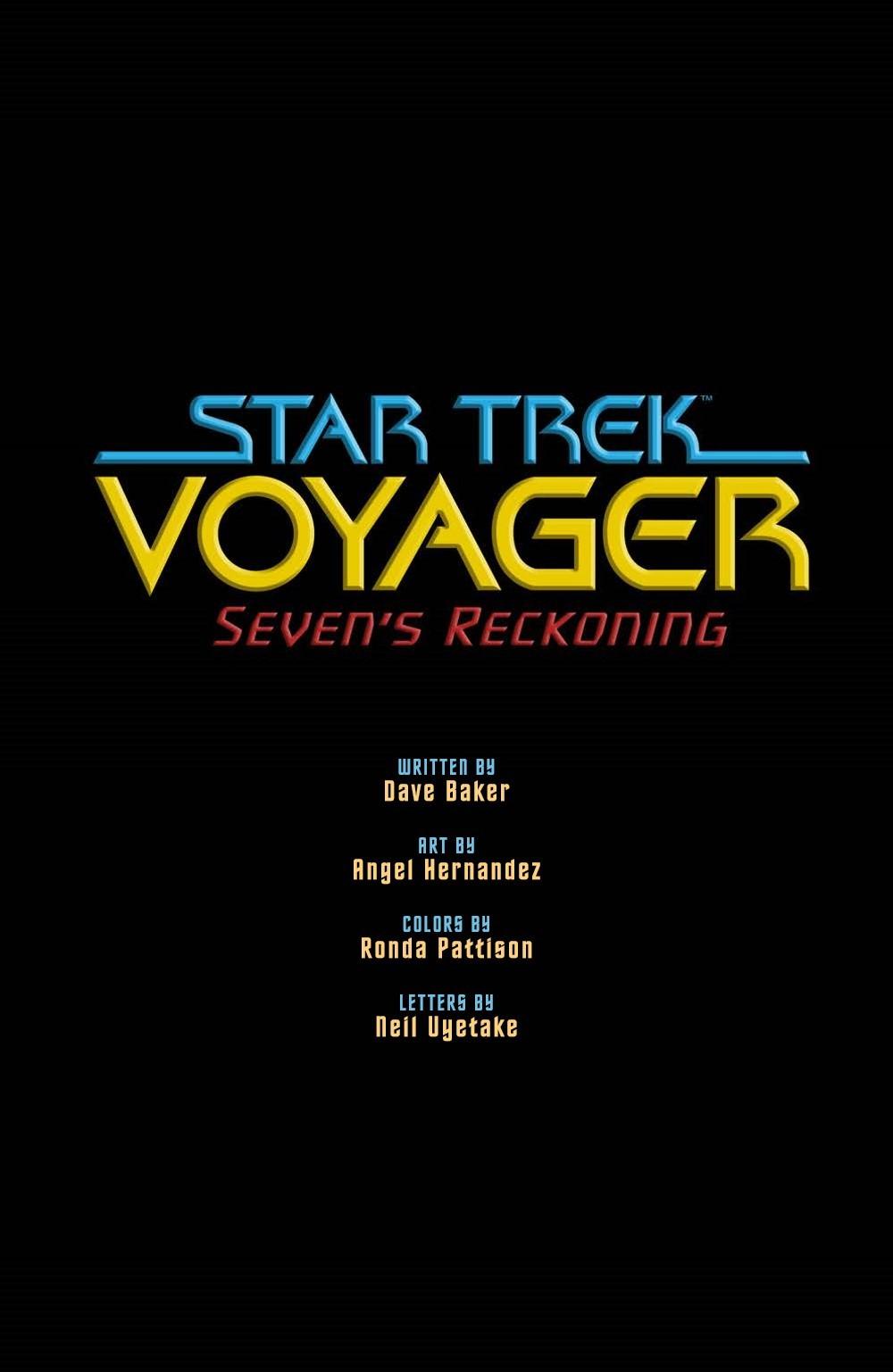 STV_SevensRekoning_TPB_pr-2 ComicList Previews: STAR TREK VOYAGER SEVEN'S RECKONING TP