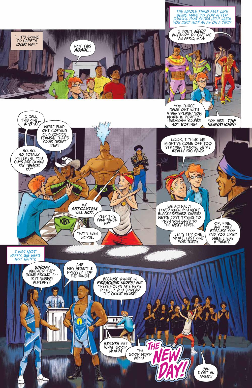 WWE_NewDay_002_PRESS_4 ComicList Previews: WWE THE NEW DAY POWER OF POSITIVITY #2 (OF 2)