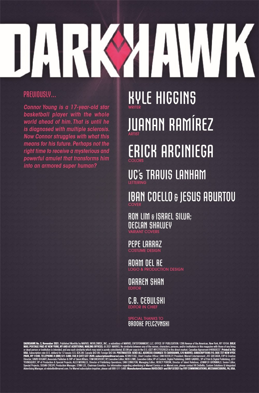 DRKHWK2021002_Preview-2 ComicList Previews: DARKHAWK #2 (OF 5)