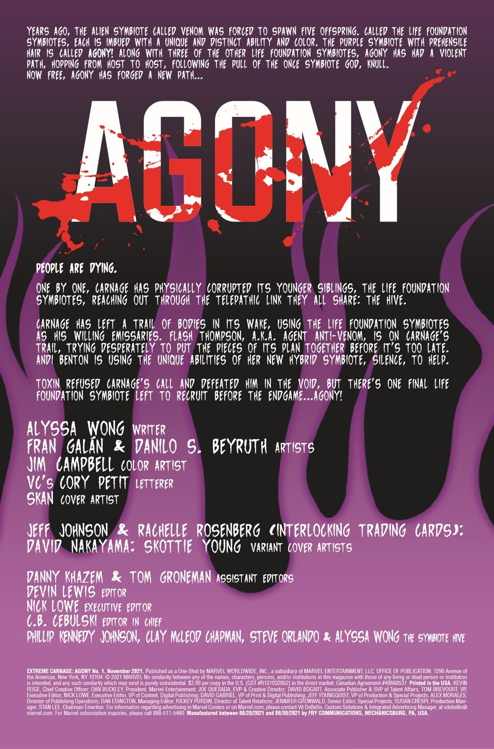 EXTCARNAG2021001_Preview-2 ComicList Previews: EXTREME CARNAGE AGONY #1