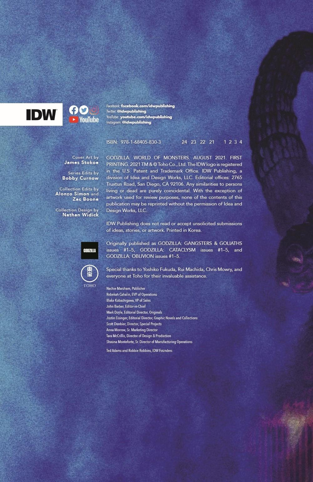 Godzilla_WOM_TPB_pr-2 ComicList Previews: GODZILLA WORLD OF MONSTERS TP