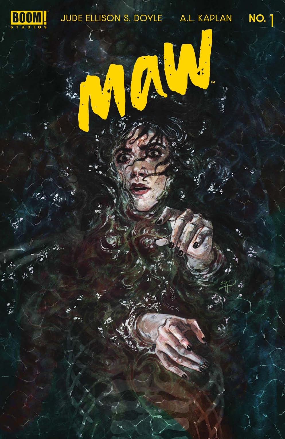 Maw_001_Cover_D_Variant ComicList: BOOM! Studios New Releases for 09/15/2021
