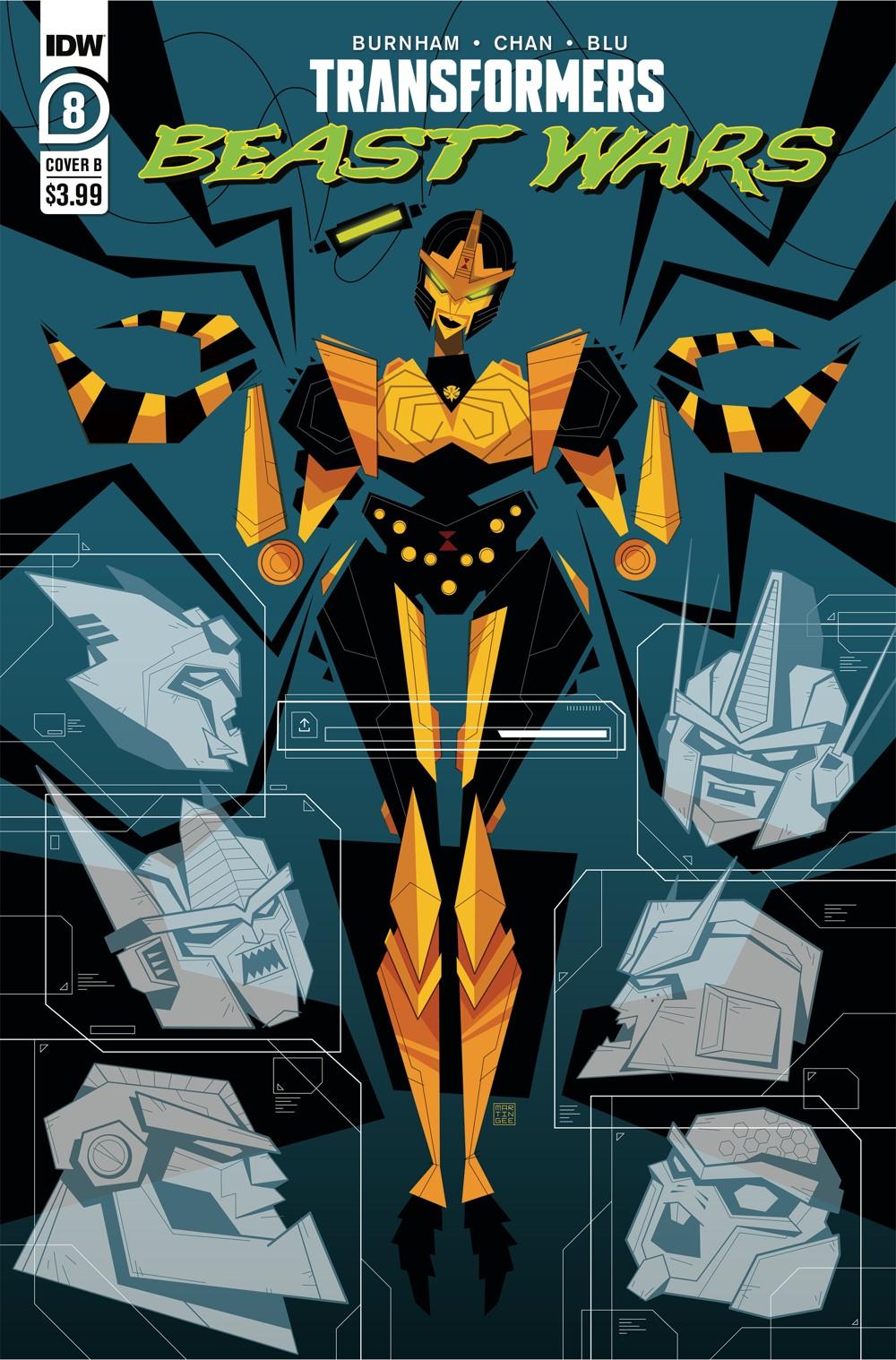 TFBW08-CvrB ComicList Previews: TRANSFORMERS BEAST WARS #8