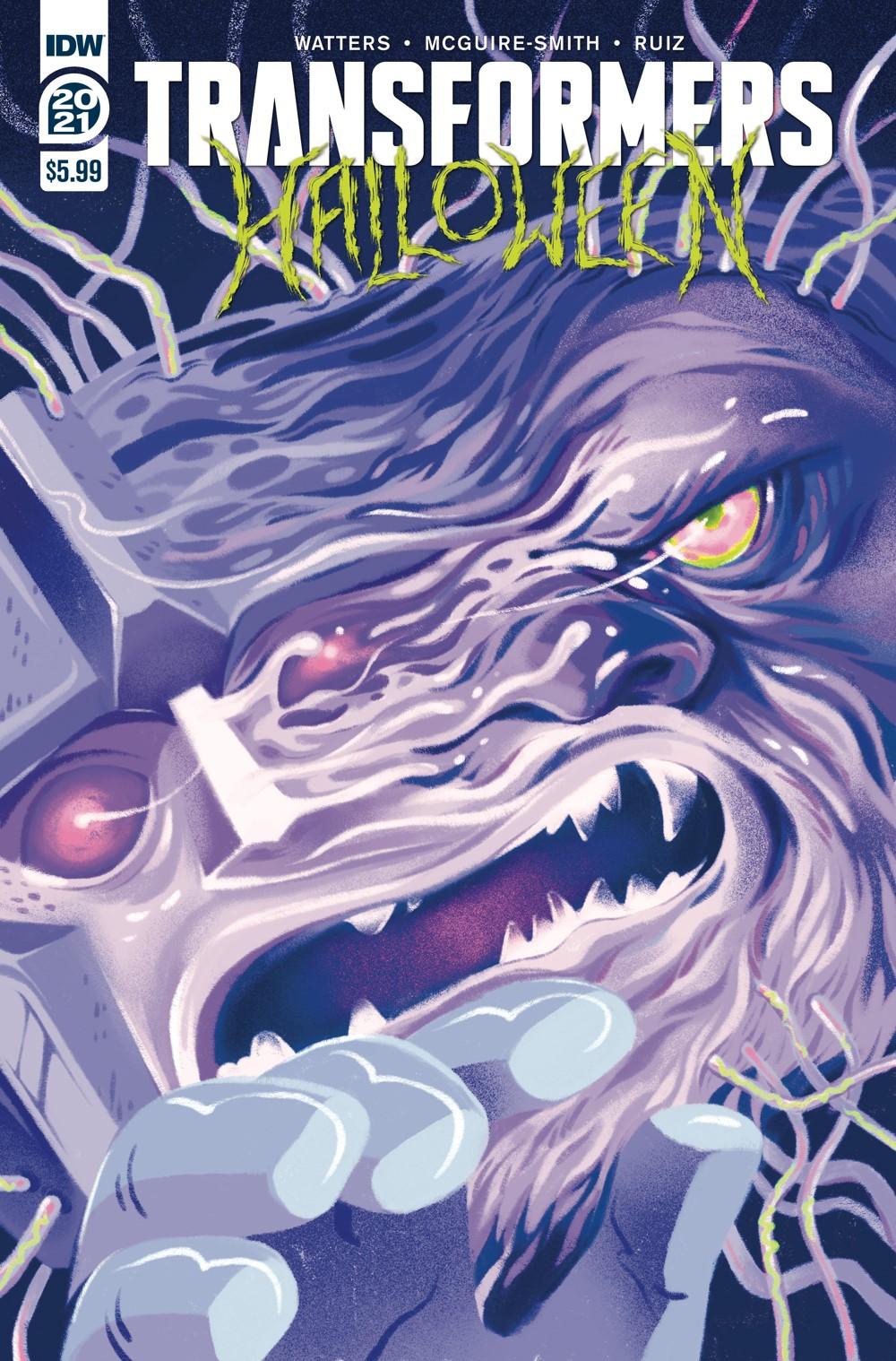 TFHalloween-cvr-A ComicList Previews: TRANSFORMERS HALLOWEEN SPECIAL #1