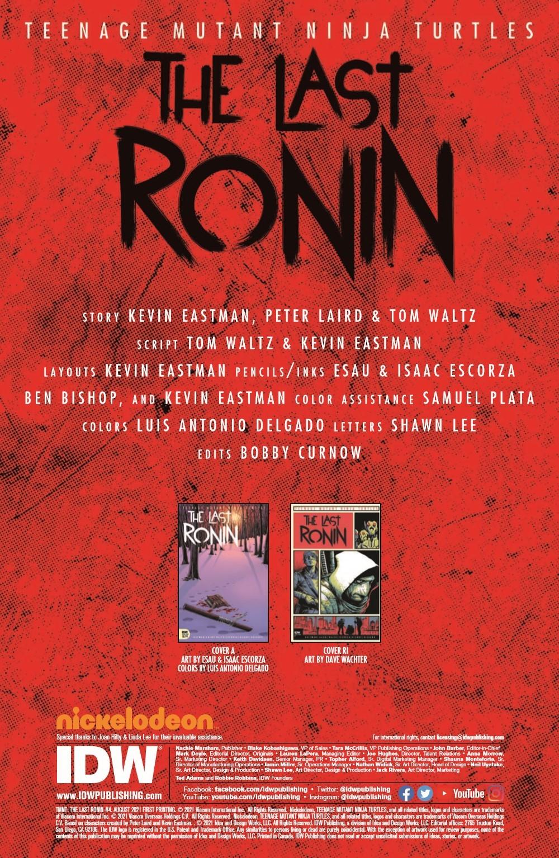 TMNT-LastRonin04_pr-2 ComicList Previews: TEENAGE MUTANT NINJA TURTLES THE LAST RONIN #4 (OF 5)