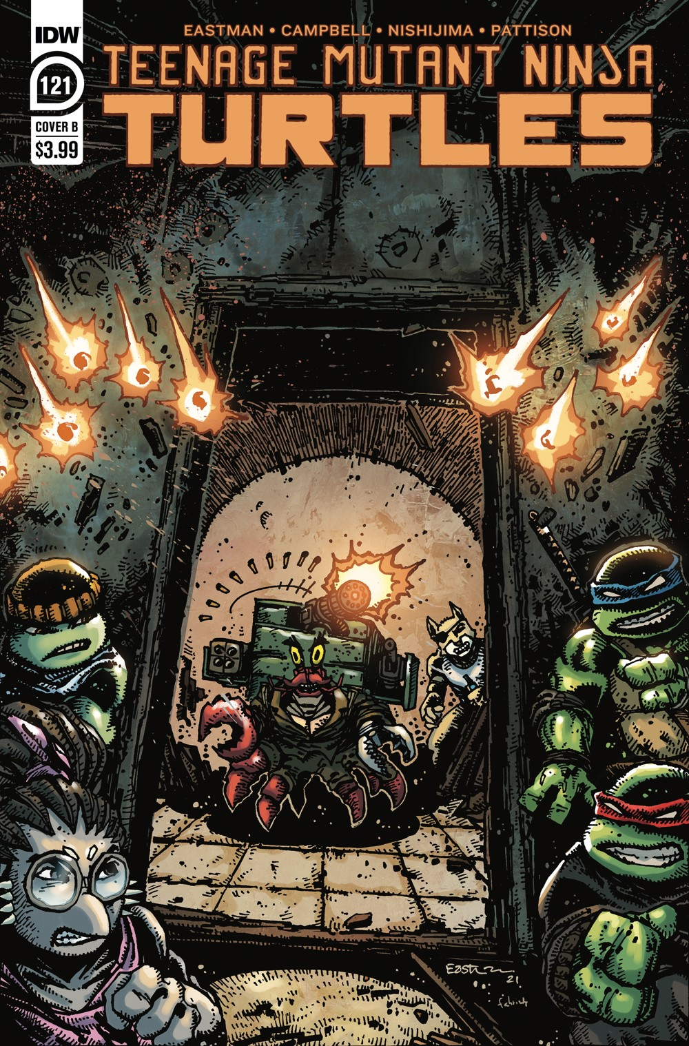TMNT121_cvrB ComicList: IDW Publishing New Releases for 09/29/2021
