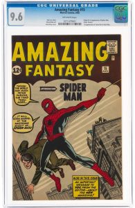 amazing-fantasy-15-marvel-1962-cgc-nm-96-off-white-pages-1-e1631303506486-1 Goldin's First Comic Auction & AF #15 Breaks the Record!