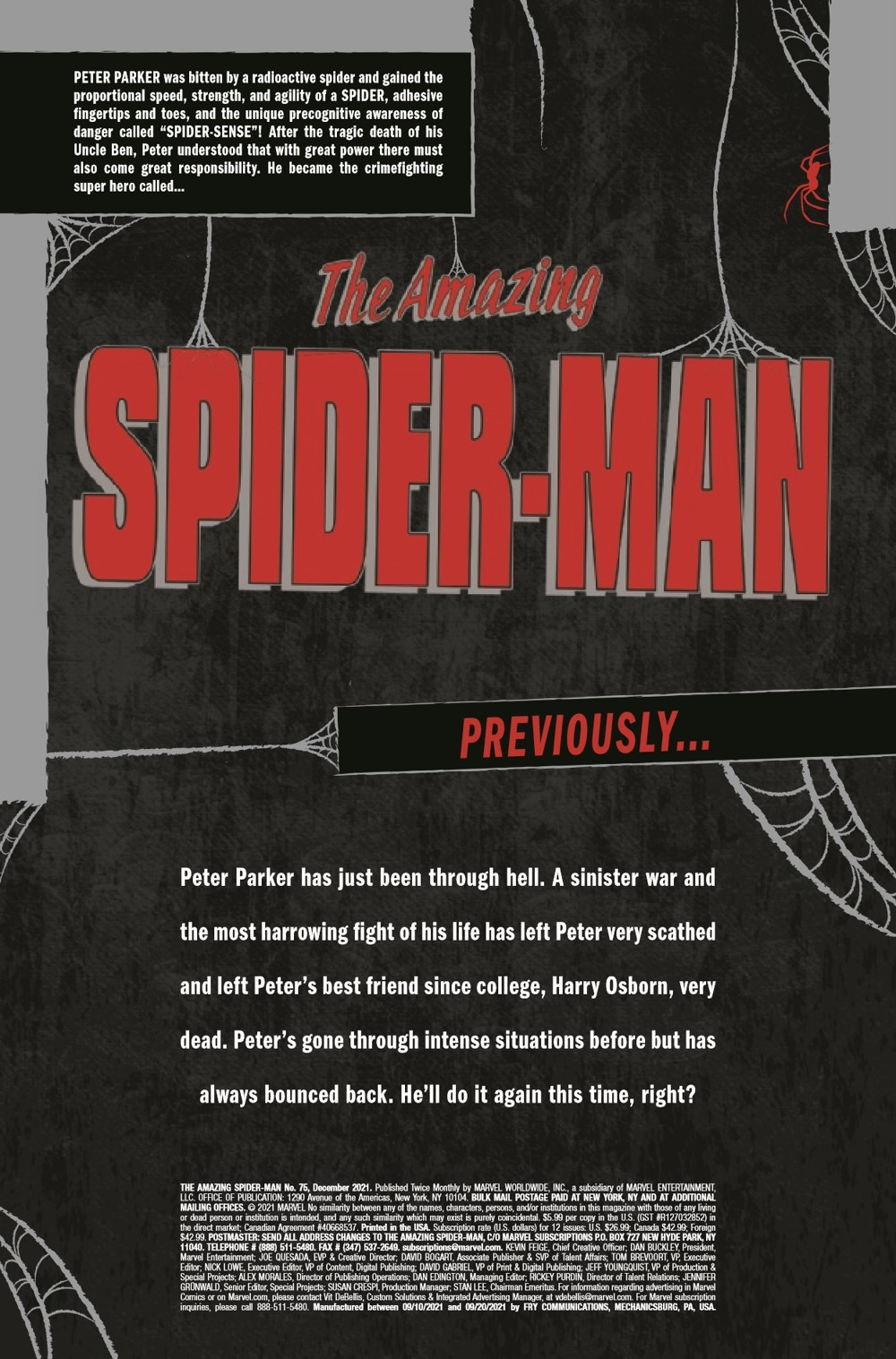 ASM2018075_Preview-3 ComicList Previews: AMAZING SPIDER-MAN #75
