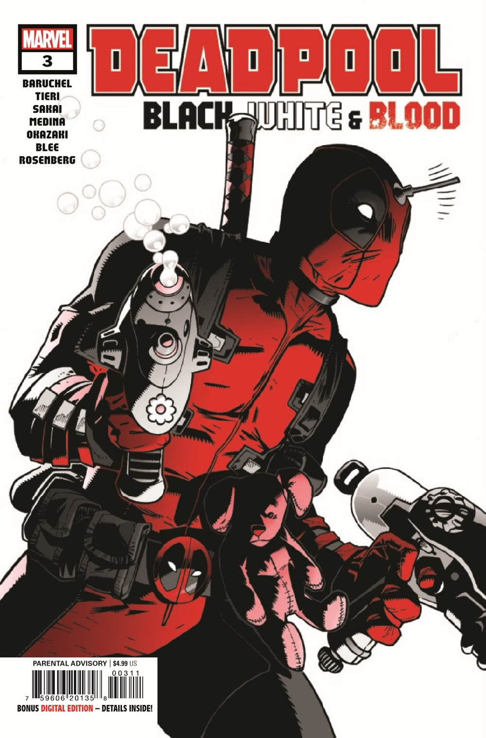 DPOOLBLKWHBL2021003_Preview-1 ComicList Previews: DEADPOOL BLACK WHITE AND BLOOD #3 (OF 4)