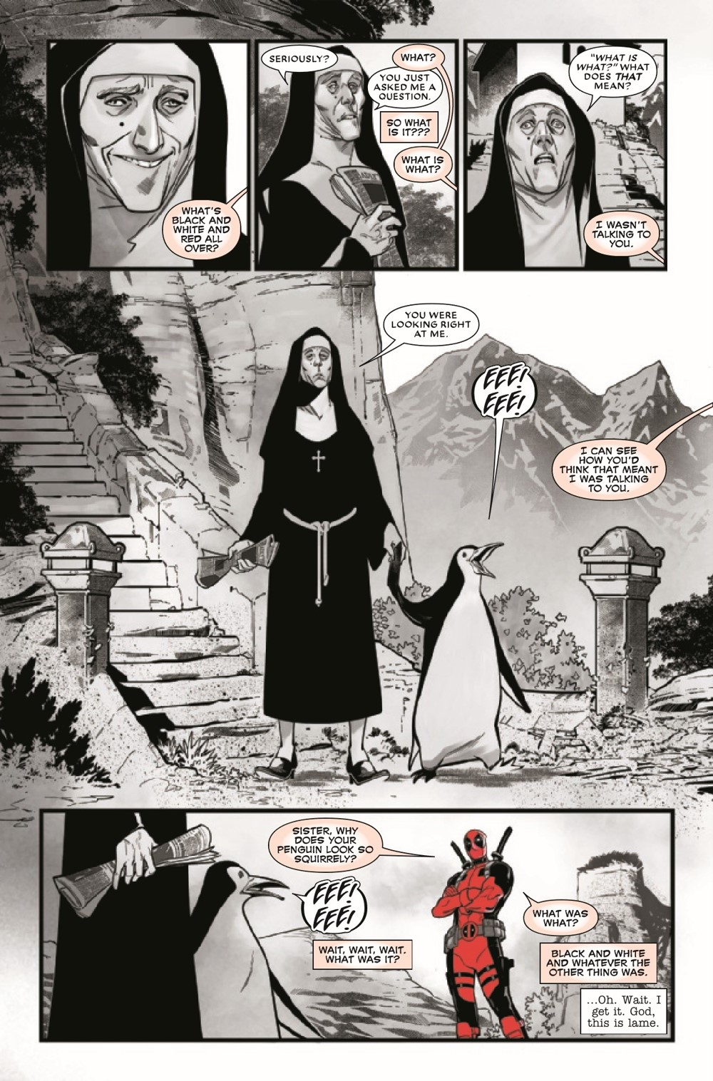 DPOOLBLKWHBL2021003_Preview-3 ComicList Previews: DEADPOOL BLACK WHITE AND BLOOD #3 (OF 4)
