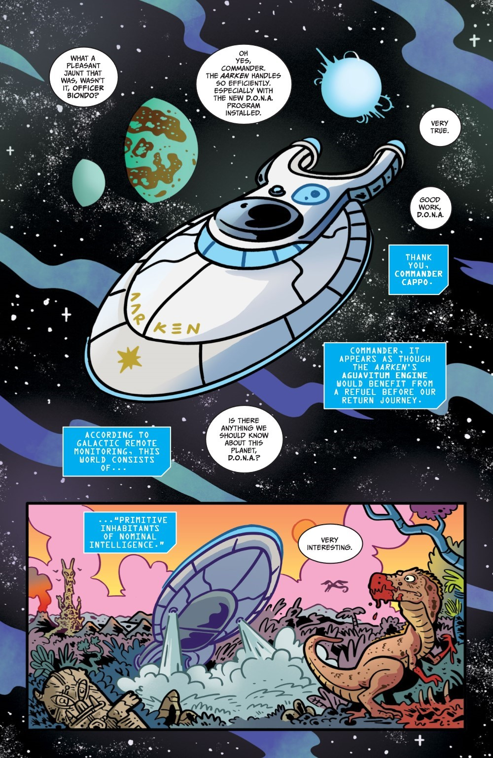 ORCSINSPACE-V1-REFERENCE-008 ComicList Previews: ORCS IN SPACE VOLUME 1 TP