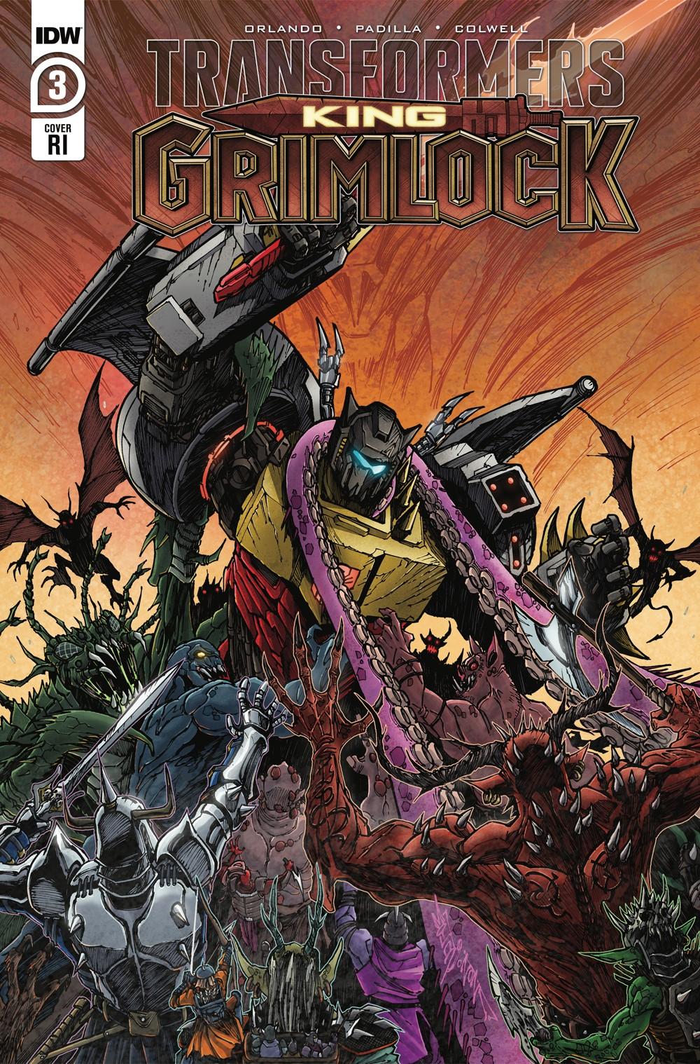 TFGrimlock-03-Cover-RI ComicList: IDW Publishing New Releases for 10/13/2021