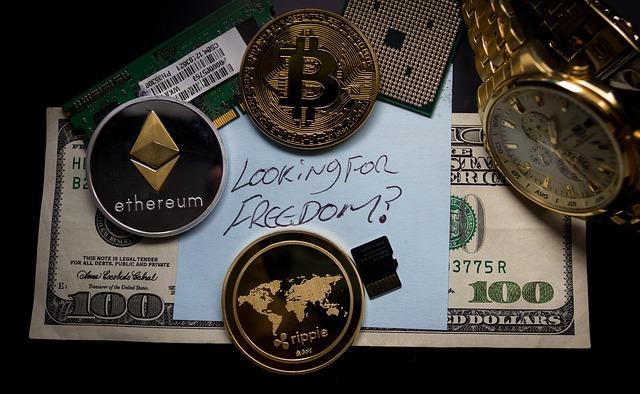 Representación de diferentes criptomonedas para invertir