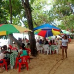 People flocked to Sosua beach in Easter