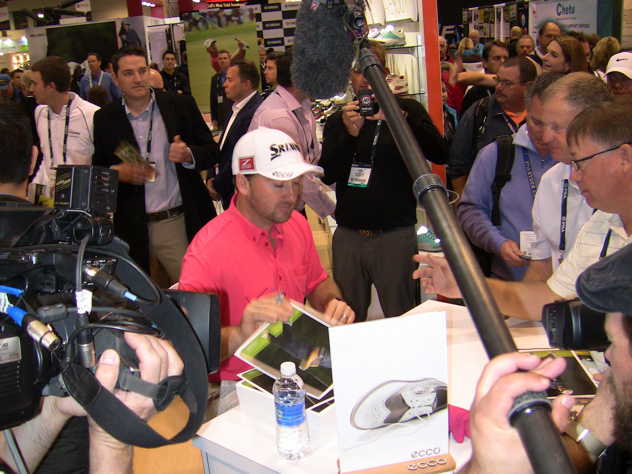 PGA Tour professional Graeme McDowell was one of the many golf celebrities on hand for the first day of the 61st PGA Merchandise Show.