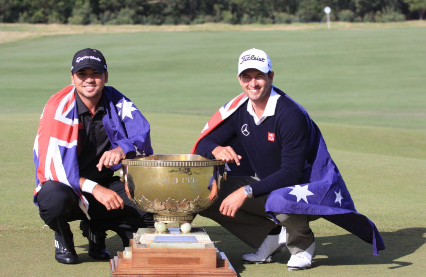 Adam Scott and Jason Day, World Cup of Golf, image: asiantour.com