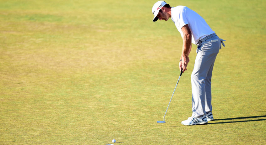 Dustin Johnson Putts at 2015 U.S. Open, image: usatoday.com