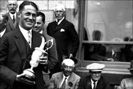 Bobby Jones wins the 1921 British Open, image: bbc.co.uk