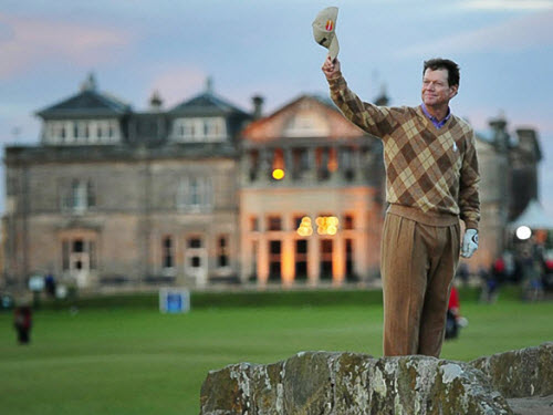 Tom Watson at St. Andrews, image: dglsports.ca