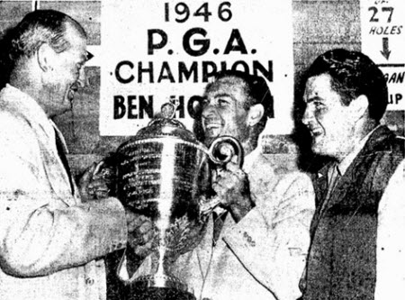 Ben Hogan wins the 1946 PGA Championship, image: benhogangolf.com