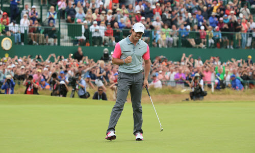 Rory McIlroy Celebrates after a Win, image: theguardian.com