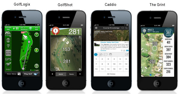 GolfLogix, GolfShot, Caddio and The Grint Golf Apps