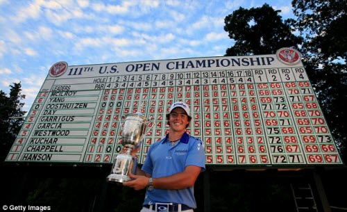 Rory McIlroy Wins the 111th U.S. Open Championship, image: dailymail.co.uk