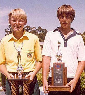 Ernie Els and Phil Mickelson at the 1984 Junior Golf Championship, image: sports.yahoo.com