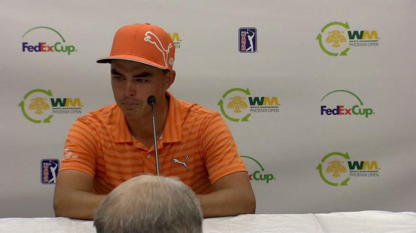 Rickie Fowler Emotional after 2016 Waste Management Open, image: golfchannel.com