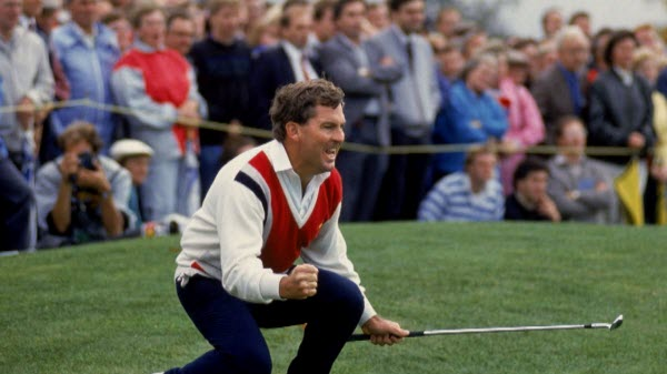 Lanny Wadkins Celebrates during the Ryder Cup, image: golfchannel.com