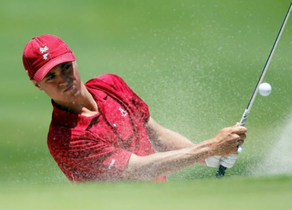 Justin Thomas while at the University of Alabama, image: golfchannel.com