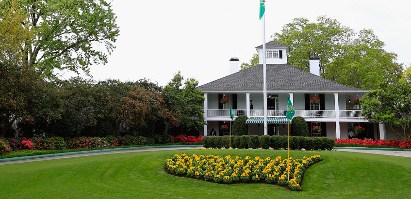 Augusta National Clubhouse at the Masters, image: golfchannel.com