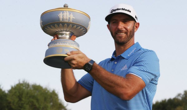 Dustin Johnson after Winning the 2017 Accenture Match Play Tournament, image: the42.ie