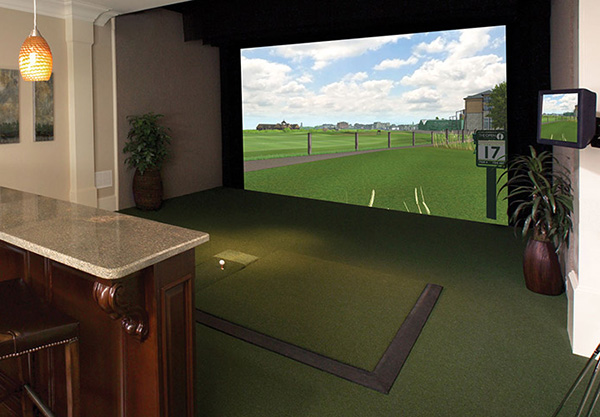 Home Golf Simulator, image: aboutgolf.com