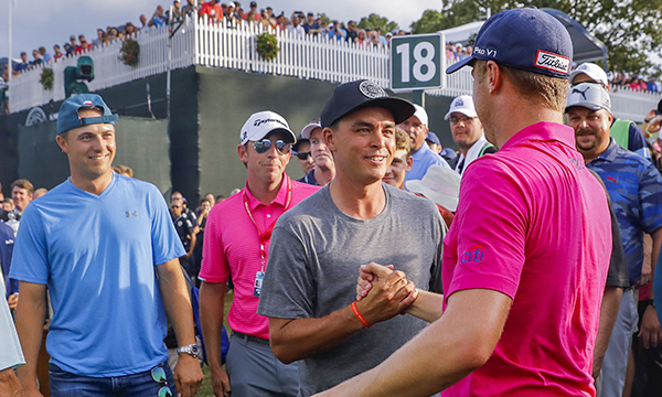 Spieth and Fowler Congratulate Justin Thomas After 2017 PGA Championship Win, image: intellegencerpost.com