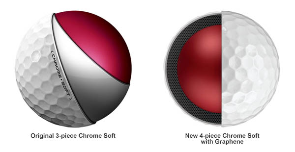 Original and New Callaway Chrome Soft, image: callawaygolf.com