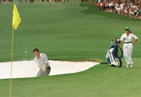 Nick Faldo's Win at the 1996 Masters Using Precept Golf Ball, image: skysports.com
