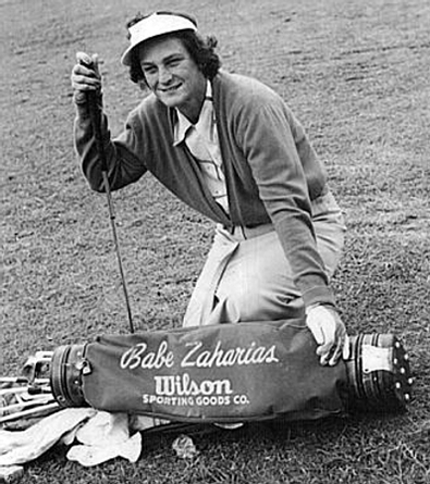 Babe Zaharias With Her Wilson Golf Clubs, image: houstonhistorymagazine.org