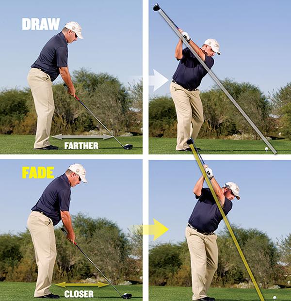 Draw and Fade Stances, image: golftipsmag.com