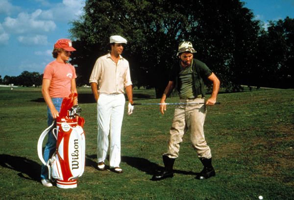 Wilson Golf Clubs Make an Appearance in Caddyshack, image: popsugar.com
