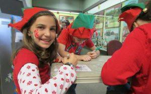 Iberia Parish - kiddos making Christmas crafts.