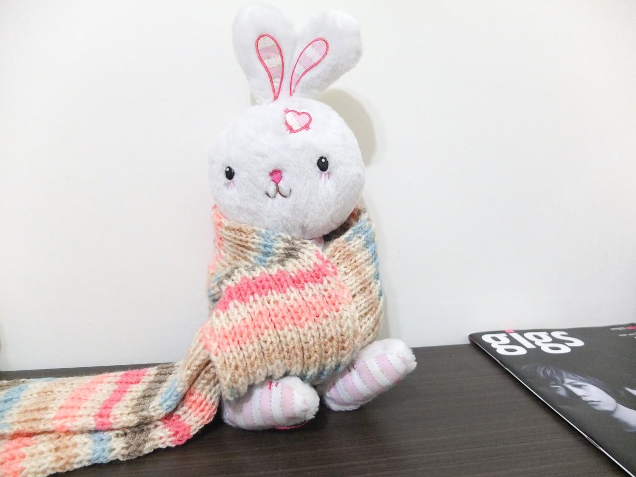 棒針 | 第一件棒針完成品:焦糖圍巾 – 微曦